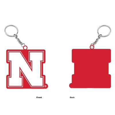 Nebraska Rubber Keychain