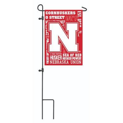 Nebraska Fan Rules Garden Flag