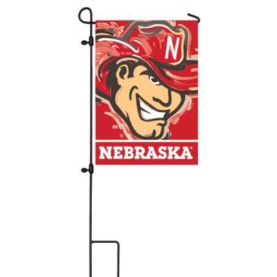 Nebraska Justin Patten Garden Flag