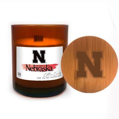 Nebraska 8 oz Apothecary Candle with Lid