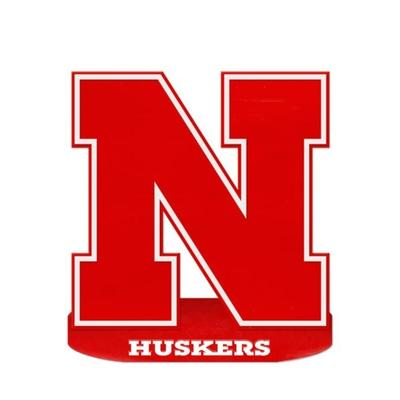 Nebraska 24 inch Oval Base N Logo Sign