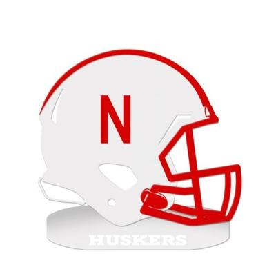 Nebraska 18 inch Oval Base Helmet Sign