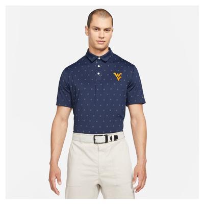 West Virginia Nike Golf Men's Player X Clubs Polo