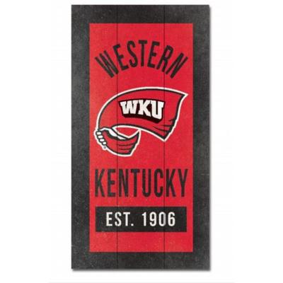 Western Kentucky 11 X 20 inch Wood Plank Sign