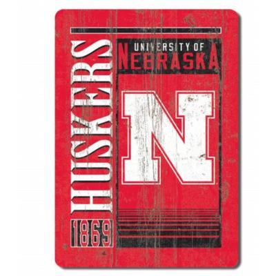 Nebraska Rectangle Logo Magnet