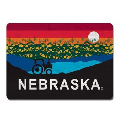 Nebraska Rectangle Horizon Magnet