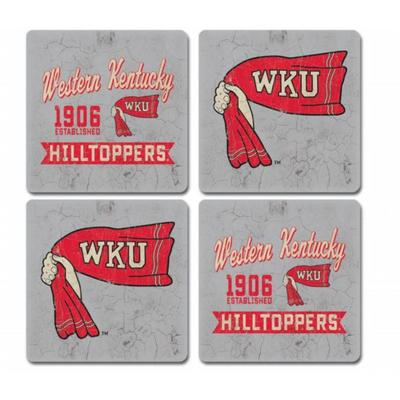 Western Kentucky Midnight Fly 4-Pack Coasters