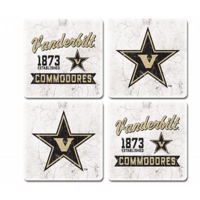 Vanderbilt Midnight Fly 4-Pack Coasters