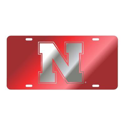 Nebraska N Logo Mirror License Plate