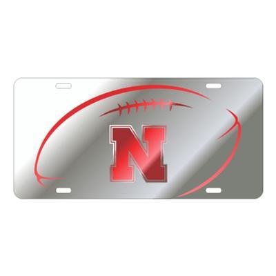 Nebraska Football Mirror License Plate