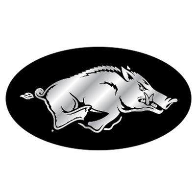 Arkansas Mirrored Hitch Cover Razorback Logo