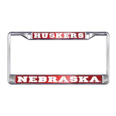 Nebraska Domed Huskers License Plate Frame