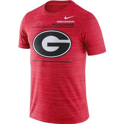 Georgia Nike Velocity Sideline Short Sleeve Tee