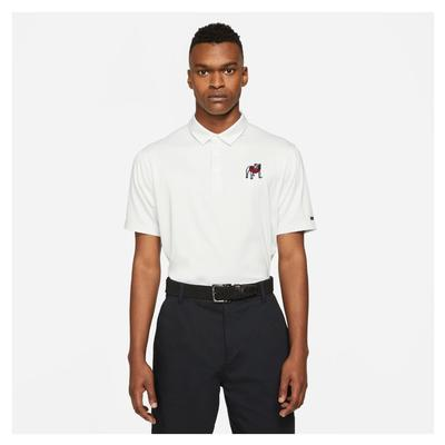 Georgia Nike Golf Men's Standing Bulldog Player Control Stripe Polo