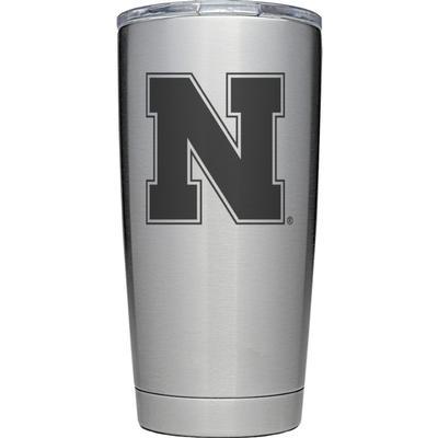 Nebraska Yeti 20 oz N Logo Rambler