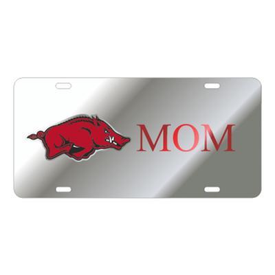 Arkansas Mom Razorback Logo License Plate