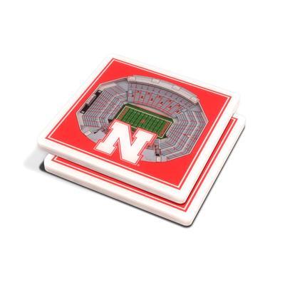 Nebraska 3-D Stadium Coaster