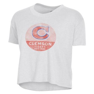 Clemson Alternative Apparel Women's Headliner Vault C Crop Tee