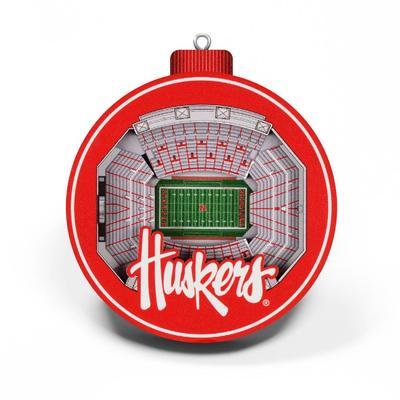 Nebraska 3D Stadium Ornament
