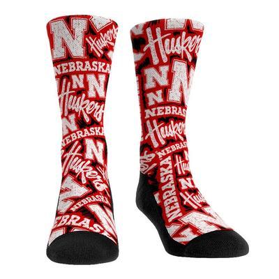 Nebraska Logo Sketch Crew Sock