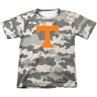 Tennessee Wes & Willy YOUTH Camo Logo Tee