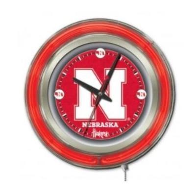 Nebraska 15 inch Neon Wall Clock