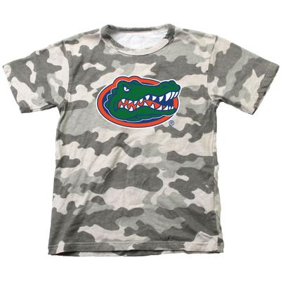 Florida Wes & Willy YOUTH Camo Logo Tee