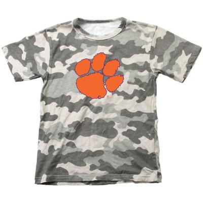 Clemson Wes & Willy YOUTH Camo Logo Tee