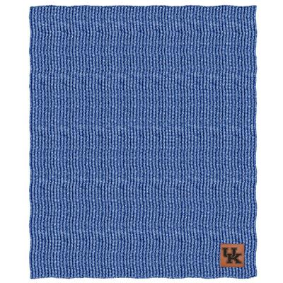Kentucky Two Tone Cable Knit Blanket