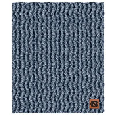 UNC Two Tone Cable Knit Blanket