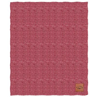 Arkansas Two Tone Cable Knit Blanket