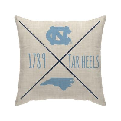 UNC Cross Arrow Decor Pillow