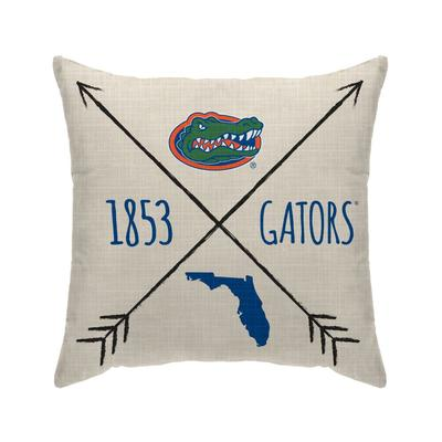 Florida Cross Arrow Decor Pillow