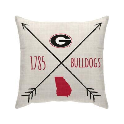 Georgia Cross Arrow Decor Pillow