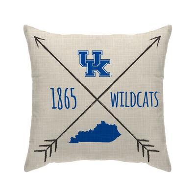 Kentucky Cross Arrow Decor Pillow