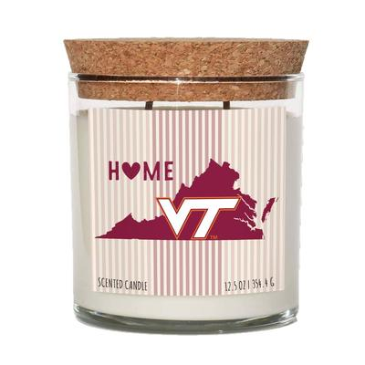 Virginia Tech 12.5 oz Cork Top Candle