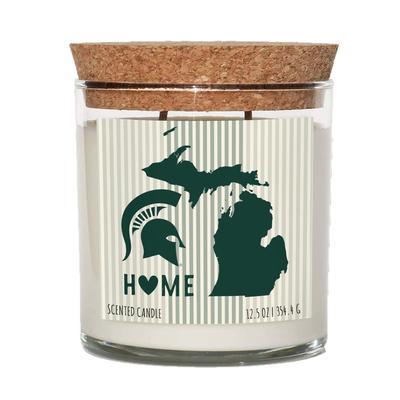 Michigan State 12.5 oz Cork Top Candle