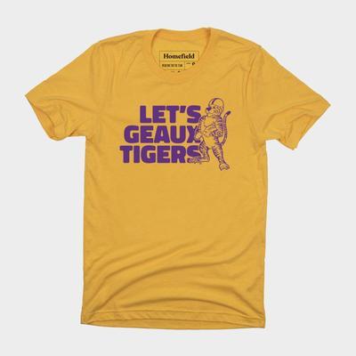 LSU Homefield Let's Geaux Tigers Tee