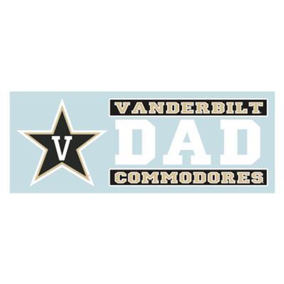 Vanderbilt Dad Decal 6'