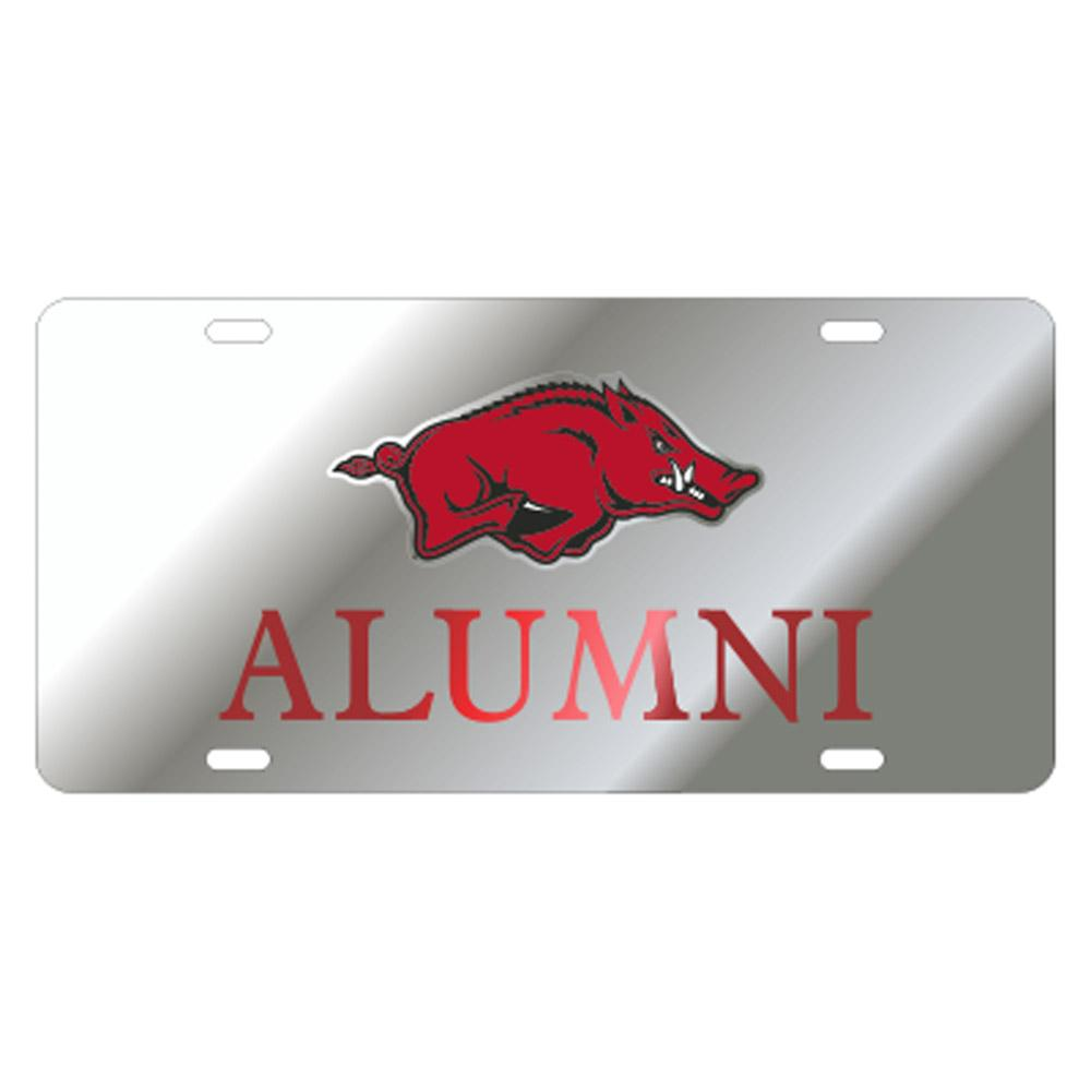 Arkansas Alumni Razorback Logo License Plate