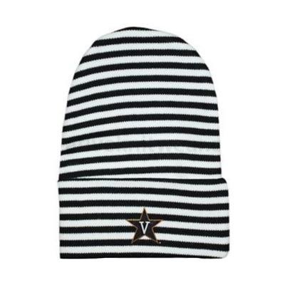 Vanderbilt Infant Striped Knit Cap