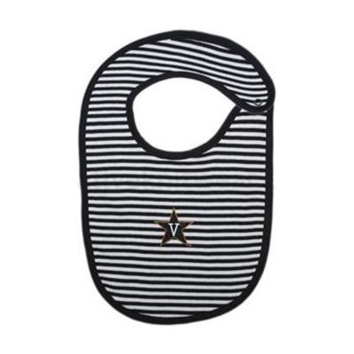 Vanderbilt Striped Knit Bib