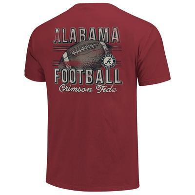 Alabama Comfort Colors Football Stripes Tee