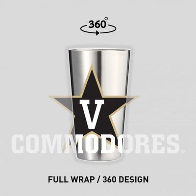 Vanderbilt 16 oz Pint Glass Tumbler