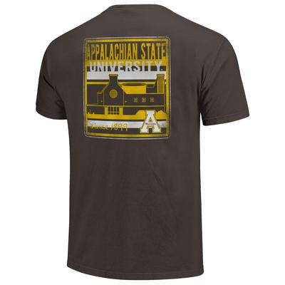 Appalachian State Comfort Colors Building Stripes Tee