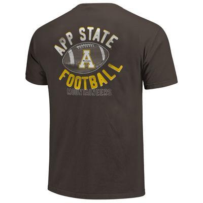 Appalachian State Comfort Colors Football Tee