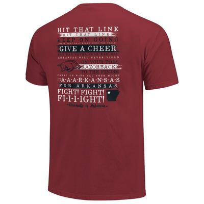 Arkansas Comfort Colors Fight Song Stripes Tee