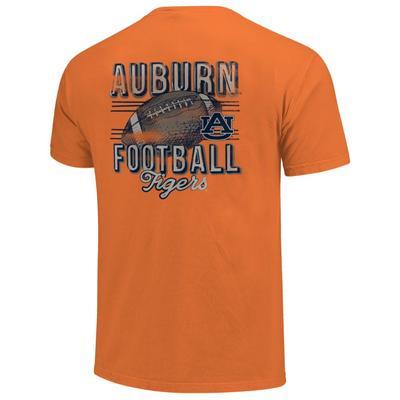 Auburn Comfort Colors Football Stripes Tee