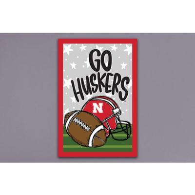Nebraska Magnolia Lane Go Huskers Football Garden Flag