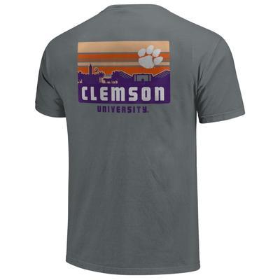 Clemson Comfort Colors Campus Skyline Tee